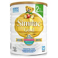 Высокоадаптированая детская базовая сухая молочная смесь Симилак голд 2 800 г