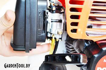 Как заводить и регулировать двигатель бензинового триммера?