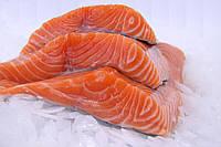 Охлаждённое филе лосося