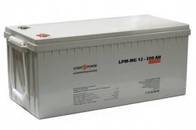 Гелевий акумулятор LogicPower LPM - GL - 12 - 200 AH