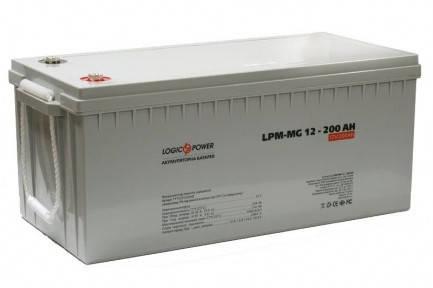 Гелевий акумулятор LogicPower LPM - GL - 12 - 200 AH, фото 2
