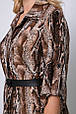 Платье с застежкой спереди Перис коричневое (54-60), фото 6