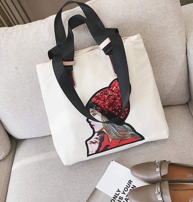 Сумка-шоппер с рисунком