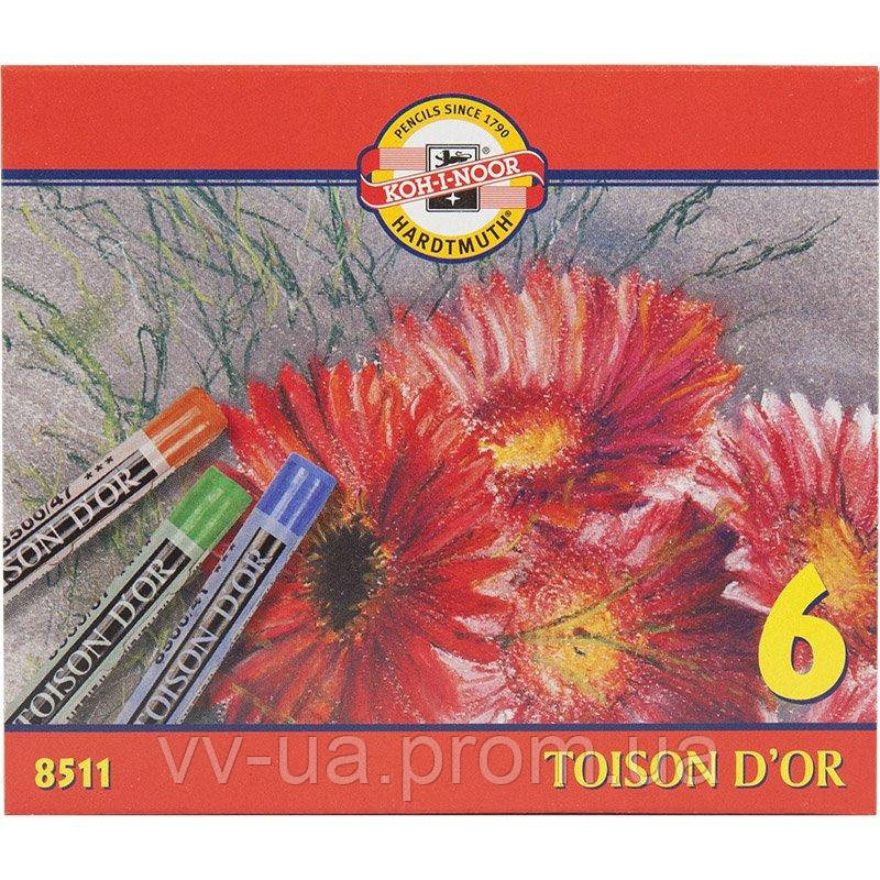 Пастель Koh-i-Noor TOISON D'OR, 6 цв.