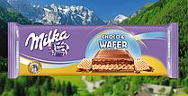 Шоколад Milka mmMAX Choco Wafer Молочный Шоколад Вафли. Швейцария 300г