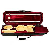 Кофр для скрипки размер 4/4 с гигрометром середина бордо