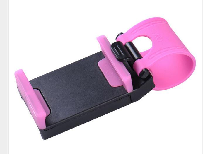 Держатель телефона на руль розовый