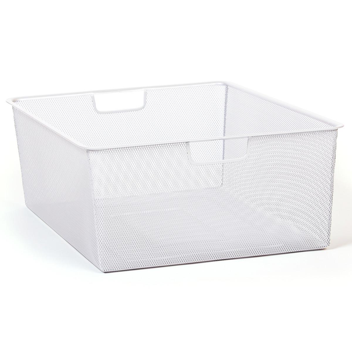 Мелкосетчатая корзина для гардеробной Larvij белая L9560WH(N)