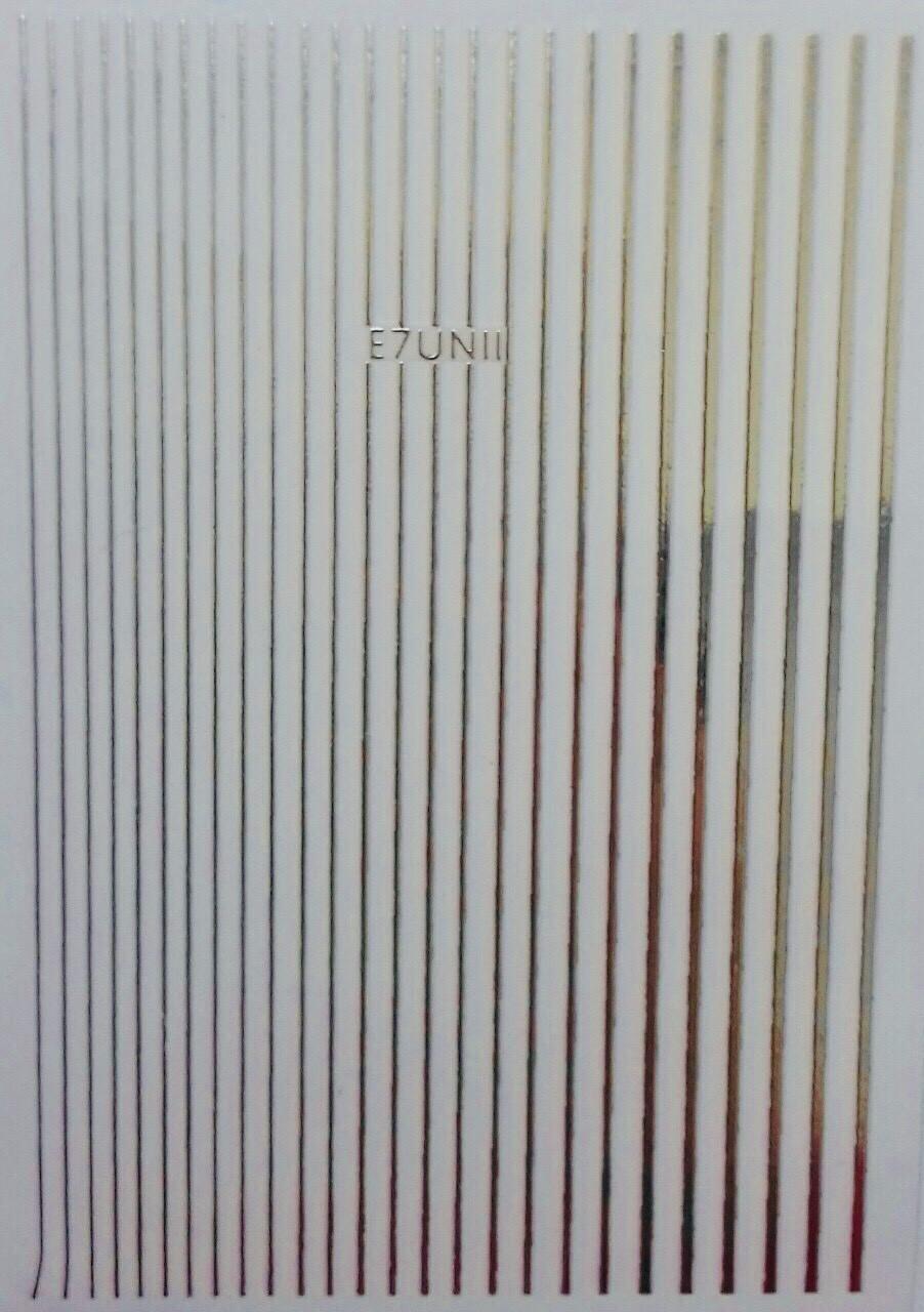 Наклейки для ногтей-E7UNII 3D дизайн серебро