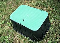 Средний смотровой полиэтиленовый колодец с откидным люком, 295х535х375мм