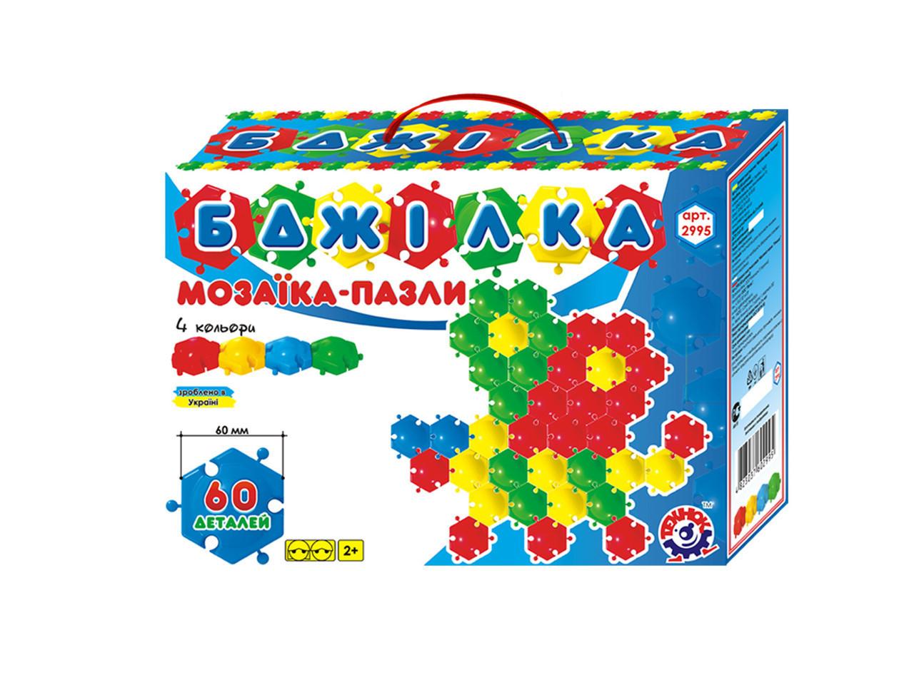 "Мозаика - пазлы ""FUN GAME"" ""Пчелка"" 2995 60 эл, ""ТЕХНОК"""