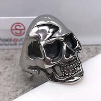 Байкерское кольцо из медицинской стали Череп Сильвера 31 мм 129800