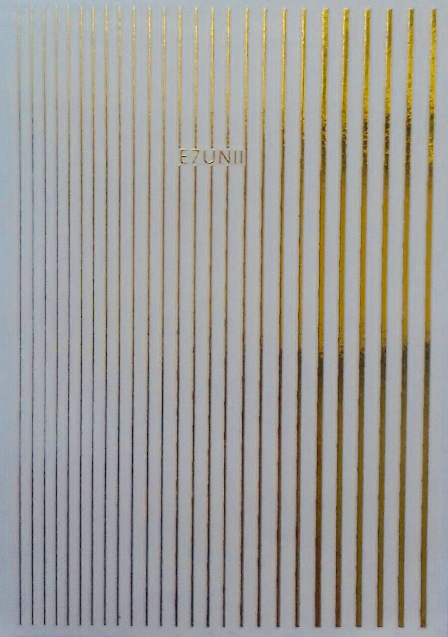Наклейки для ногтей-E7UNII 3D дизайн золото
