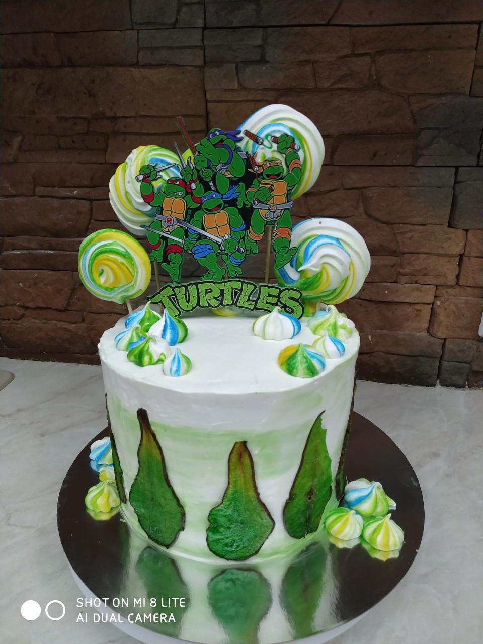Топпер Черепашки-Ніндзя, Топпер з принтом черепашок, TMNT на торт, прикраси для торта TMNT, Turtles в торт
