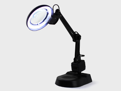 Лампа-лупа настільна Yihua 238 Led 90мм, з люмінесцентним підсвічуванням 11W