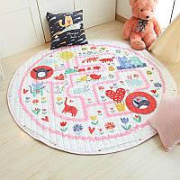 Детский игровой коврик-мешок для игрушек 2в1 Алиса в стране чудес - 143022