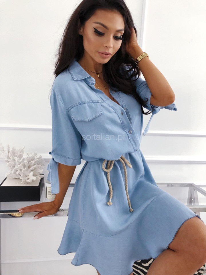 73e0ef1925f9 Купить Женское нежное платье с поясом от надежного поставщика