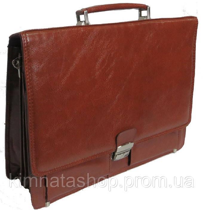 Портфель из искусственной кожи коричневый P6806 brown