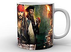 Кружка GeekLand белая Pirates of the Caribbean Пираты Карибского моря постер PC.02.001