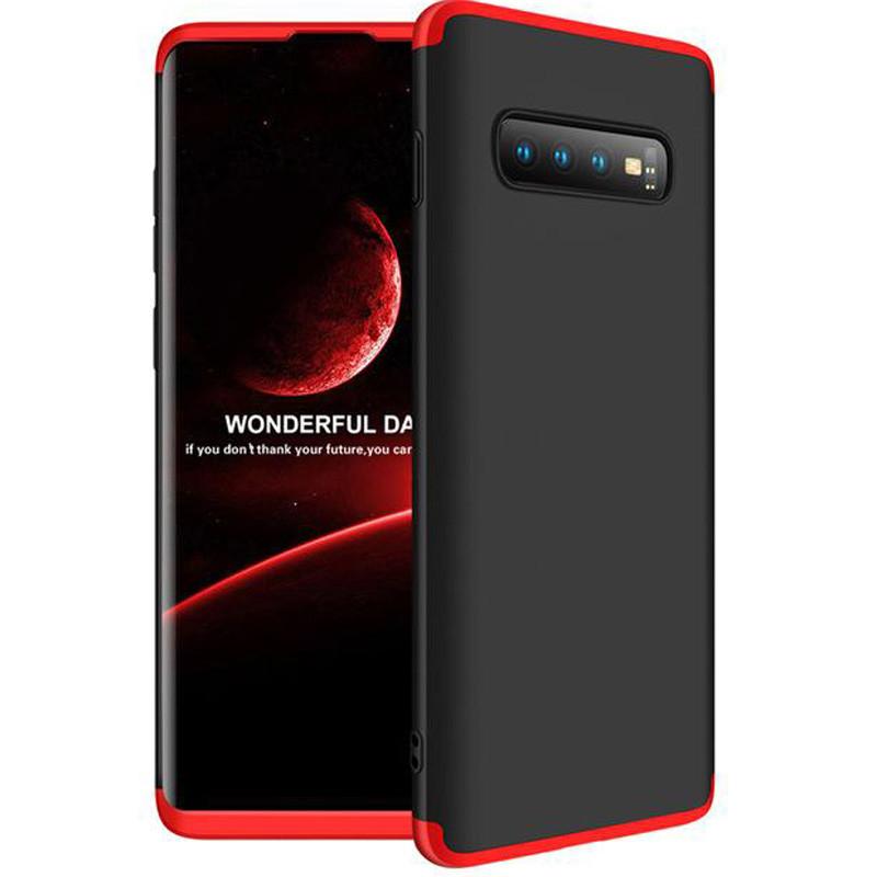 Пластиковая накладка GKK LikGus 360 градусов для Samsung Galaxy S10 Черный / Красный