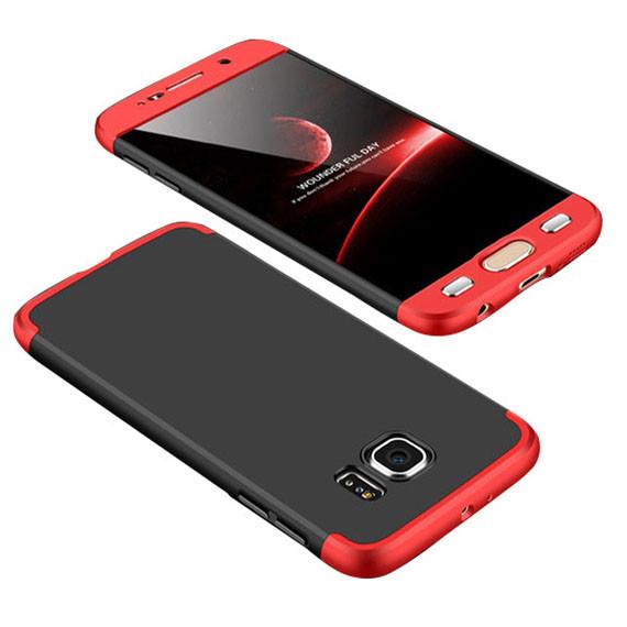 Пластиковая накладка GKK LikGus 360 градусов для Samsung Galaxy S6 G920F/G920D Duos Черный / Серебряный