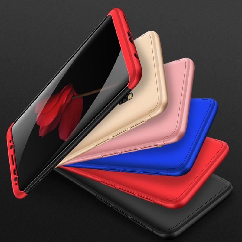 Пластиковая накладка GKK LikGus 360 градусов для Samsung Galaxy S9+ Черный / Серебряный