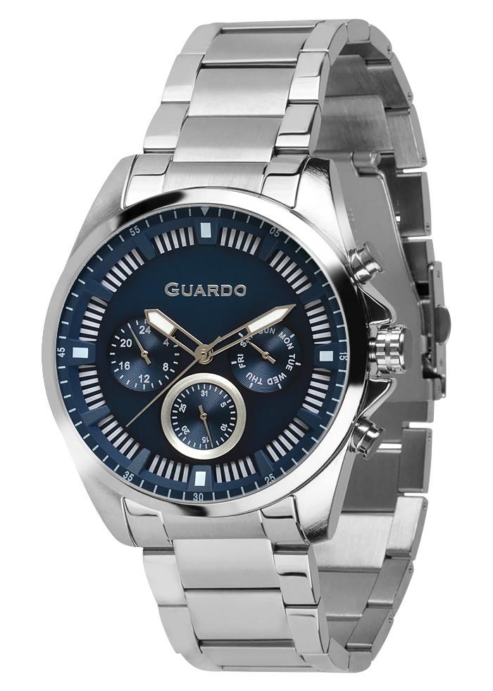 Часы мужские Guardo 011123-1 серебряные