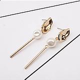 "Серьги с жемчугом ""Unusual pearl"", 1 пара, фото 2"