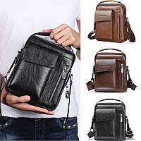 Мужская сумка барсетка через плечо бренда WEIXIER из PU кожи с ручкой, 3 цвета