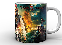Кружка GeekLand белая Pirates of the Caribbean Пираты Карибского моря джек PC.02.002