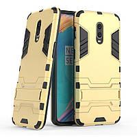 Чохол для OnePlus 6T Hybrid Armored Case золотий, фото 1