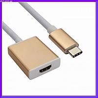 Переходник конвертер USB 3.1 Type-C на HDMI  720p/1080p