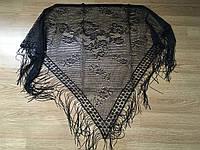 Платок, косынка Чёрная с бахромой