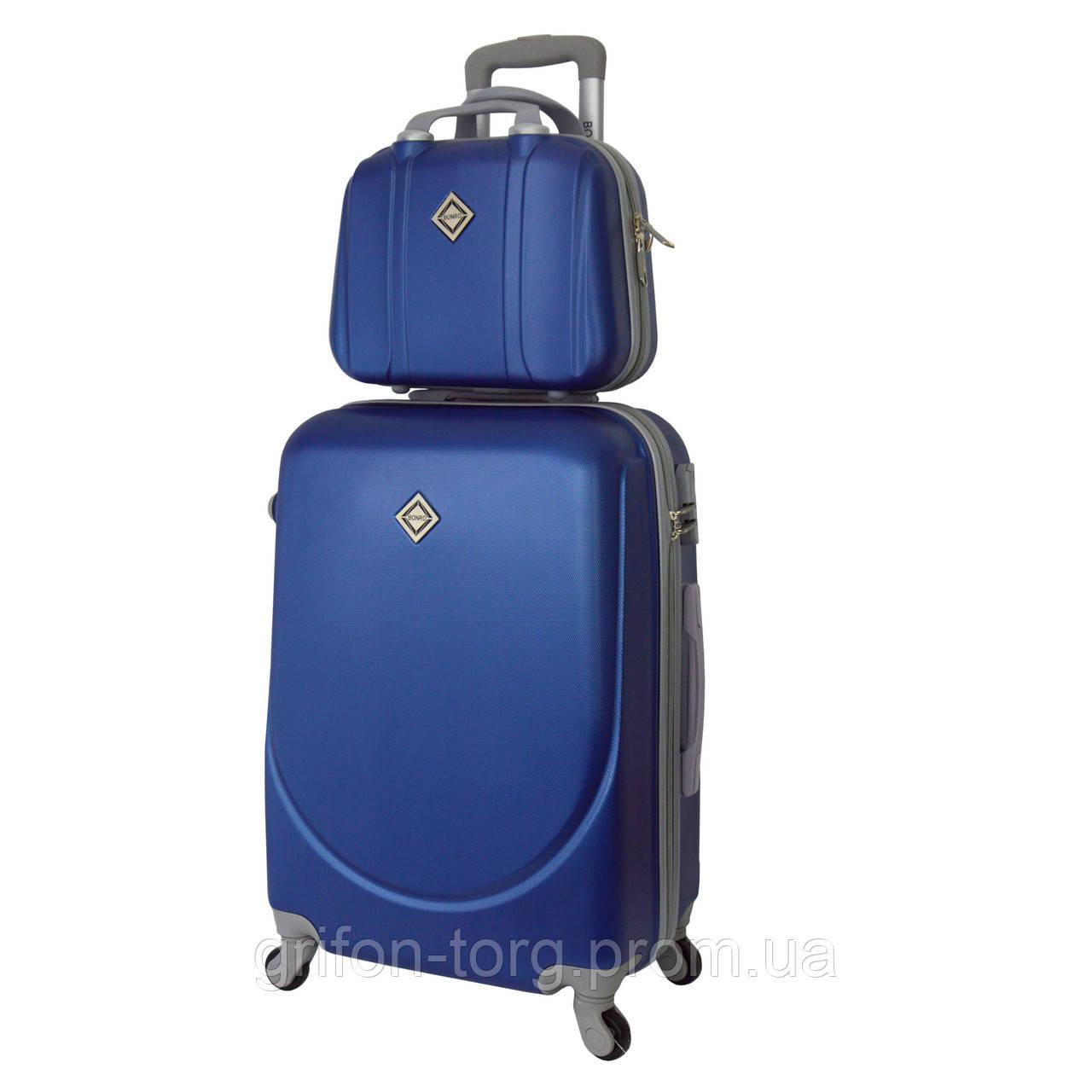 Комплект чемодан + кейс Bonro Smile (средний) синий