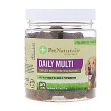 """Мультивитамины для собак Pet Naturals of Vermont """"Daily Multi"""" ежедневные, 50 жевательных таблеток (175 г)"""