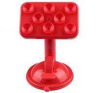 Держатель для телефона / навигатора с присосками UF 1-020 красный, фото 1