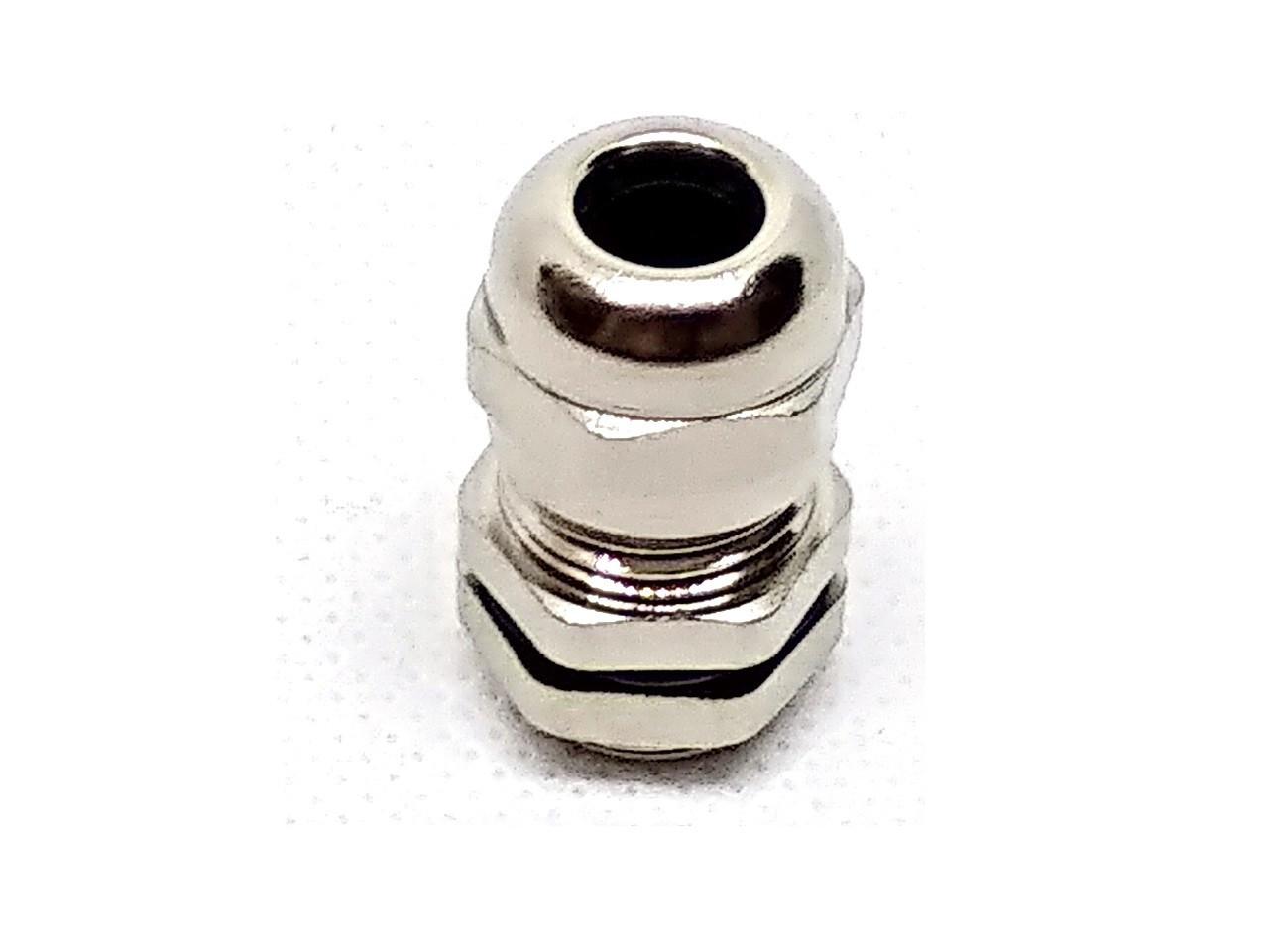 Гермоввод (кабельный ввод) PG-7 латунный никелированный