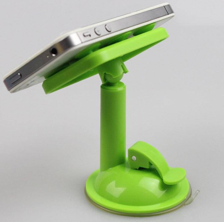 Держатель для телефона / навигатора с присосками UF 1-020 салатовый