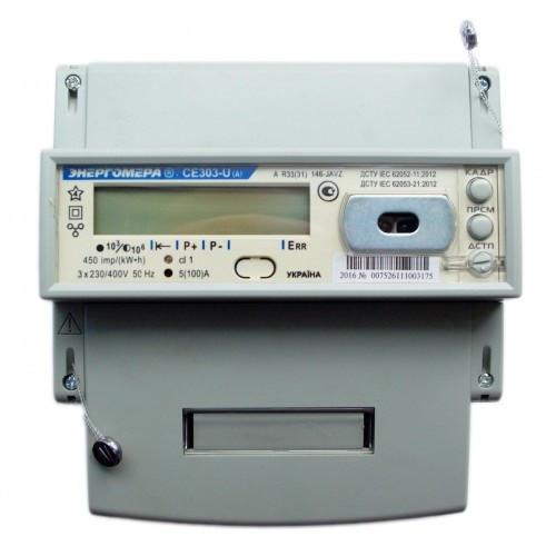 Счетчик электроэнергии CE303-U A R33 146-JAVZ 380В 10(100)А трехфазный многотарифный