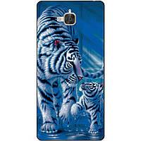 Силиконовый бампер чехол для Huawei Y6 Pro с рисунком Тигры