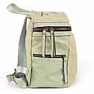 Рюкзак женский YES Weekend из полиэстера 30*27*15 см зелёный (554415), фото 3