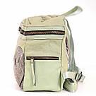 Рюкзак женский YES Weekend из полиэстера 30*27*15 см зелёный (554415), фото 2