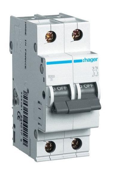 Автоматический выключатель HAGER MC216 2п C16А