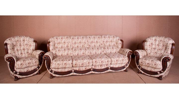 Комплект мебели Джозеф, мягкая мебель, мебель в ткани, тканевая мебель, комплект мебели