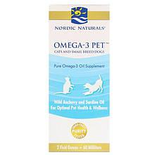 """Рыбий жир для кошек и собак Nordic Naturals """"Omega-3 Pet"""" в жидкой форме (60 мл)"""