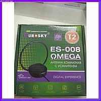 Телевизионная комнатная широкополосная антенна с усилителем Eurosky ES-001