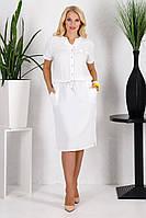 Платье Лен молоко, фото 1