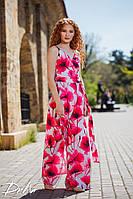 Женский летний комбинезон на запах с цветочным принтом №513\1(р.42-48), фото 1