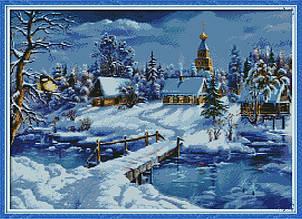 Набор алмазной вышивки NKF Зимний пейзаж F0112