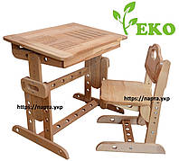 Детская парта и стул из дерева бук, Алфавит, фото 1